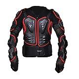 Dexinx Nero Armatura Giacca Traspirante Confortevole Protezione di Motocross Giacca Regolabile Armatura Indumenti di Protezione Rot 4XL