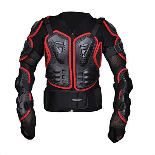 Dexinx Leicht Motorradjacke Atmungsaktiv Motorrad Schutz Protektoren Komfortabel Fallschutz Schutzjacke Rot L
