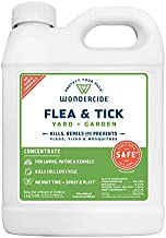 Wondercide - Flea and Tick Spray Concentrate for Yard and Garden with Natural Essential Oils – Kill, Control, Prevent, Fleas, Ticks, Mosquitoes and Insects - Safe for Pets, Plants, Kids - 32 oz