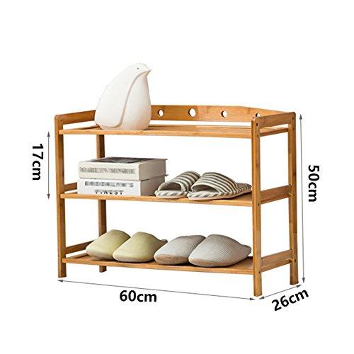 Mago Platzsparender Schuhschrank Schuhregal Stehen Lagerregal Woody Startseite Schlafzimmer 3/4/5/6 Ebenen, Lang 60/70/80 / 90cm (Color : 4LAYERS, Size : LENGTH70CM)