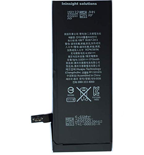 Ininsight solutions 1715mAh Battery for iphone 6s(Black)