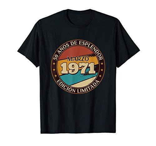 Regalo 50 Años Aniversario Humor Vintage Marzo 1971 Camiseta