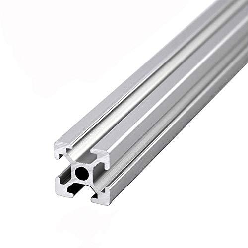 TPCYAN Tornillo de Plomo, Marco de extrusión de Perfil de Aluminio de 150-1000 mm 2020 V-Slot, para Impresora 3D CNC Pista DIY, Espesor de Pared 1.5mm, 1 PCS (Size : 400mm)