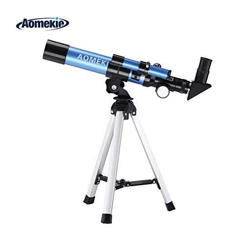 Aomekie Telescopio para Niños 40/400 Telescopio Refractor Astronomico con Brújula Maleta y Trípode (F40040MM(2))