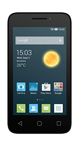 Alcatel Pixi 4 - Smartphone de 4  (Dual SIM, Chipset MT6572M, Dual Core 1.0 GHz, 512 MB de RAM, Android KitKat 4.4) color blanco