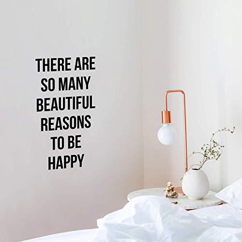 Jsnzff Pegatinas de Pared Impermeables con Frases en inglés talladas,decoración de la Pared de la habitación de los niños,póster Mural de decoración del hogar de Artista 43x81cm