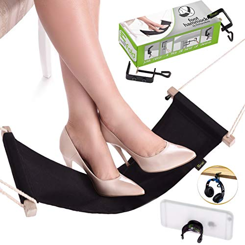 Foot Hammock Under Desk | Adjustable Desk Foot Rest Hammock Office | Under The Desk Hammock for Feet...