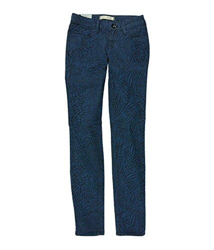 Bullhead Denim Co. Womens Low Rise Animal Skinny Fit Jeans, Multicoloured, 7/8
