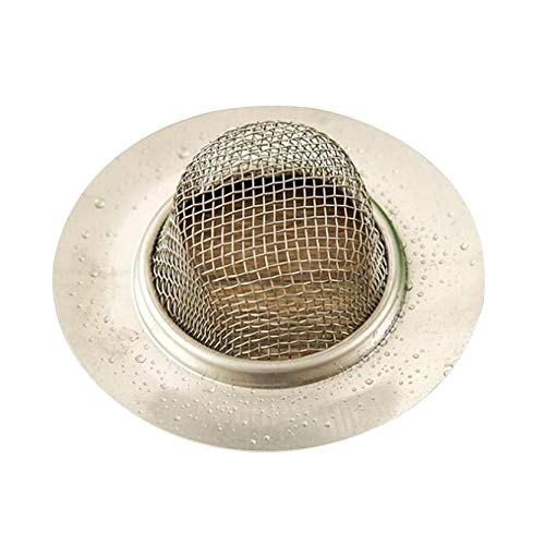 EMFGJ Tapón para fregadero de acero inoxidable duradero y profesional de desecho de basura de 7 cm de diámetro, filtro antibloqueo para cocina, baño, estilo 2