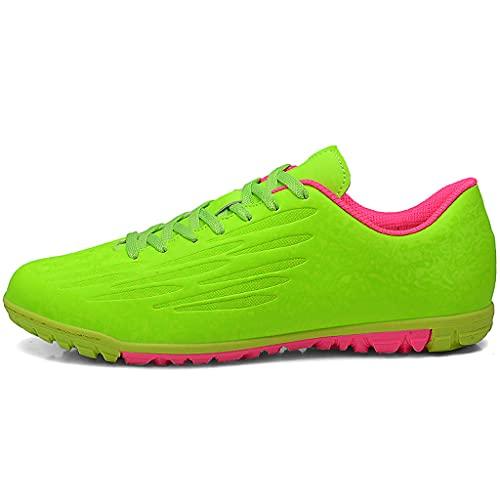 YUHAI Zapatos de fútbol para Hombres Lightweight Lace-Up Spikes Trainers Unisex para al Aire Libre/de Interior/de competición/Entrenamiento,N-38