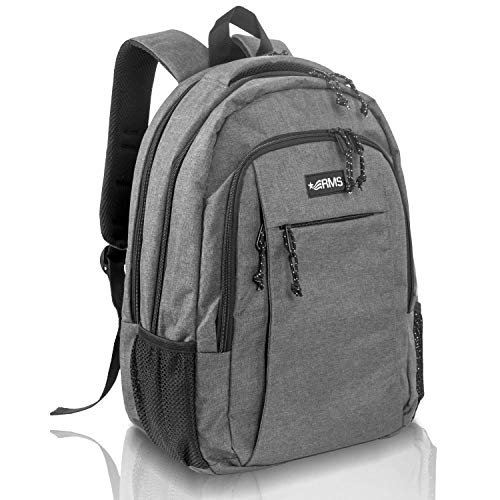 RMS Travel Backpack for School or Business - Anti Theft Laptop Backpacks for Men, Women or Students - Fits Up to 15.6 inch Notebook (Gray)