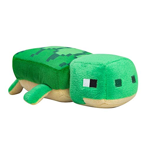 "JINX Minecraft Happy Explorer Sea Turtle Plush Stuffed Toy, Green, 8"" Long"
