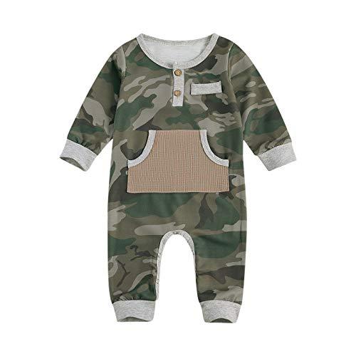 Carolilly Unisex Baby Jungen Jumpsuit Camouflage Overall Strampler mit Tarnung...