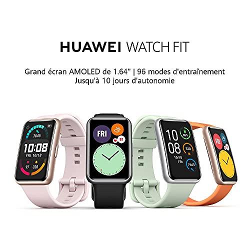 HUAWEI WATCH FIT Montre Connectée, Boitier en métal, écran AMOLED de 1.64