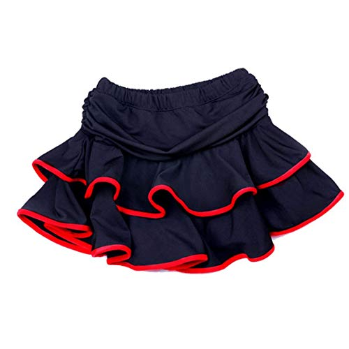 BESTOYARD Kinder Ballsaal Kleider Latein Tango Rumba Tanzkleid Tanzbekleidung Größe L (Red Edge)