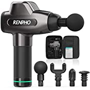 Massage Gun, RENPHO Deep Tissue Muscle Massager, Powerful Percussion Massager Handheld with Portable Case for Athletes, Back Neck Shoulder Soreness Stiffness Knots Tension Cramp Relief