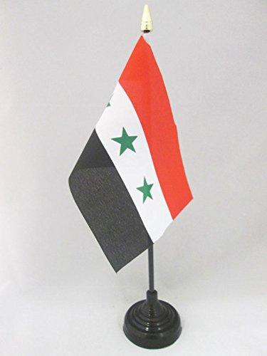AZ FLAG TISCHFLAGGE IRAK 15x10cm goldene splitze - IRAKISCHE TISCHFAHNE 10 x 15 cm - flaggen