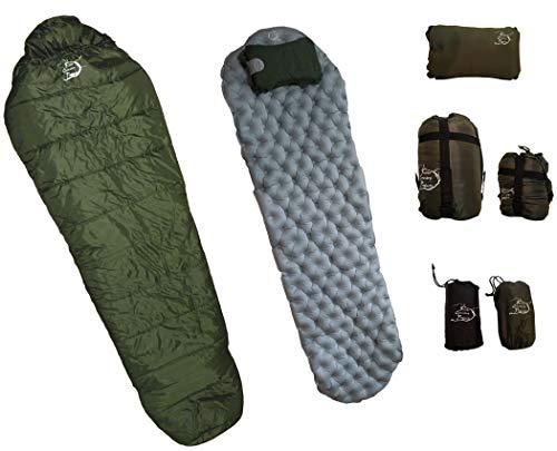 Sleeping Bag, Sleeping Pad, Pillow Combo Set - Large Sleeping Bag