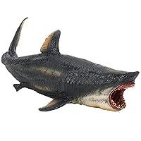 自然史のシミュレーションメガロドン図、サメのモデル、子供(New hollow giant shark model)