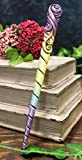 Ebros Witches Wizards and Sorcerers Patronus Sacred Unicorn Horn Fantasy Cosplay Metronome Colors Magic Wand Decorative Magical Spells Sorcery Costume Prop Accessory
