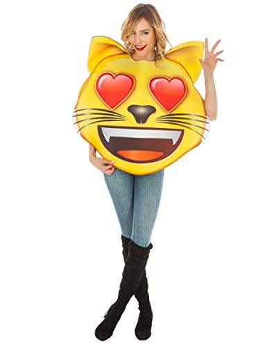 Costume Carnevale Adulto Emoji Faccina Gatto Innamorato PS 04982