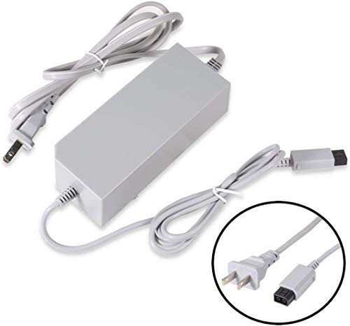 FNKTQL Wii Console Charger, AC Wall Power Adapter Supply Cable Cord for Nintendo Wii (Not Nintendo Wii U)