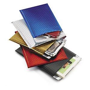 Preisvergleich Produktbild 1 Verpackungseinheit (100 Stück) farbige Luftpolster-VersandtaschenInnenmaße: Öffnung 230 mm x H 320 mmDIN A4,  36 gFb. Schwarz