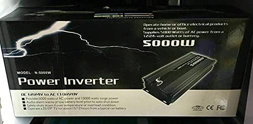 Detalles sobre Power Inverter 5000 W 12 V 220 V onda pura transformadores