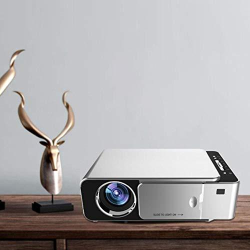 Ginyia Proiettore a LED, videoproiettore 720P, Messa a Fuoco Manuale Portatile Membrana composita Integrata per la casa
