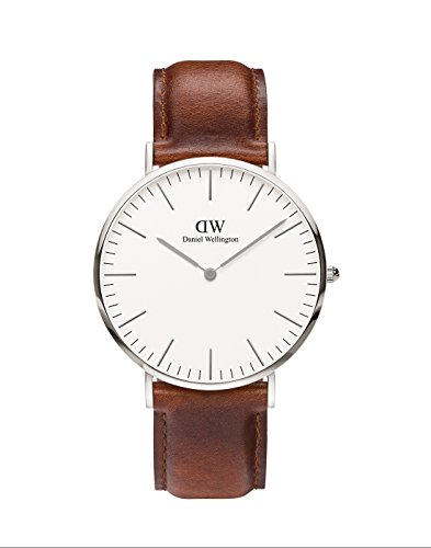 Daniel Wellington Classic St Mawes, Braune/Silber Uhr, 40mm, Leder, für Herren