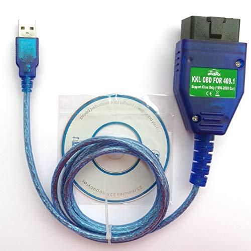 OTKEFDI KKL 409.1 Interface USB OBD,Outil de Diagnostic KKL 409.1 OBD2 - Scanner KKL OBDII Câble KKL 409.1 OBD