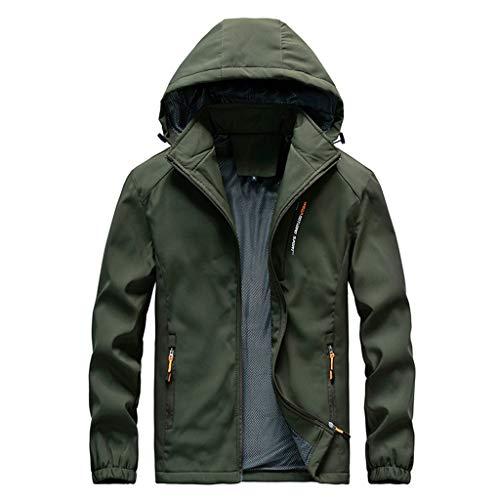 Manteau Imperméable à Capuche Zippé Veste De Pluie Coupe-Vent Pliable Capuche Jacket à Manches Longues Casual Sweatshirt Hoodie Outwear Sport Parka Manteaux Doublure Polaire Épais Chaud