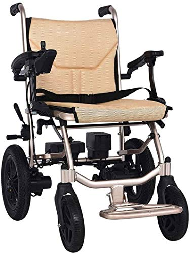 Silla de Ruedas eléctrica Plegable, Silla de ruedas, silla de ruedas eléctrica plegable de peso ligero, con Power Drive o el uso como Manual de silla de ruedas, de aluminio aeroespacial Hecho a mano D