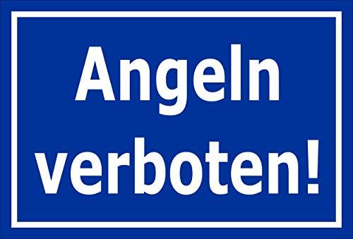 Melis Folienwerkstatt Schild Angeln verboten 30x20cm - Bohrlöcher - 3mm Hartschaum – 20 VAR S00110-002-F