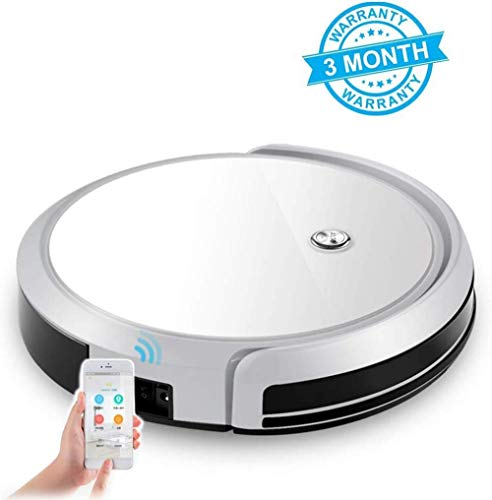 Great Features Of BYBYC Robot Vacuum Cleaner, 1400pa Suction Robot App Control, Anti-Fall Sensor, 3-...