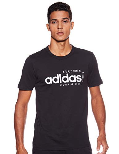 adidas Herren T-Shirt Brilliant Basics, Black, L, EI4623