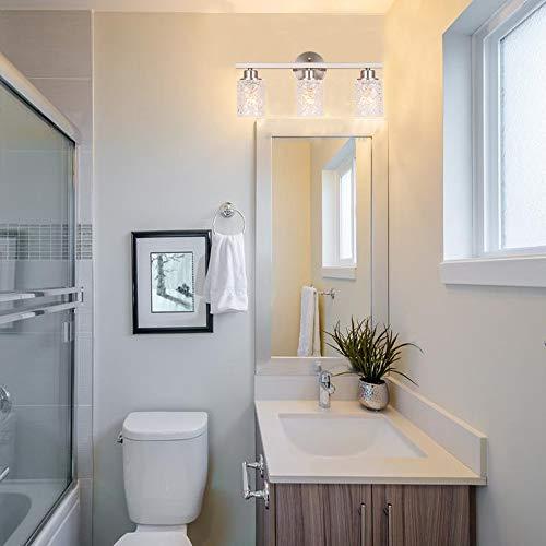 "Alice House 20.5"" Vanity Lights, 3 Light Wall Lighting, Brushed Nickel Finish Bathroom Lights Over Mirror, Bathroom Lighting AL9082-W3"