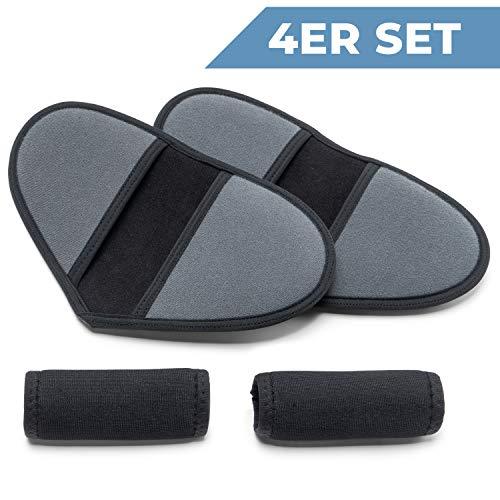 41ZjL1KPWeL - ICEHOF Juego de 4 almohadillas para andador – Muleta de ayuda para andar – Apoyos de antebrazo – Accesorios acolchados contra la fricción – Cojín amortiguador para codos, antebrazos (juego completo)