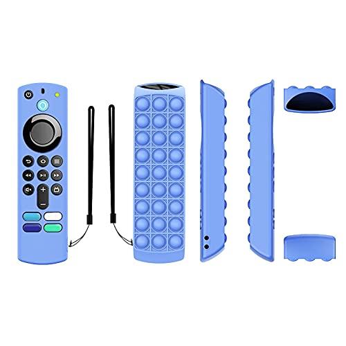 Funda de protección de silicona para llave de TV 4K/TV (3ª generación), funda de protección luminosa de silicona antigolpes, funda de protección para llave de TV de distancia Vocal 2021 con correa