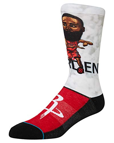 Stance Harden Big Head - Calcetines para hombre, color rojo, talla L