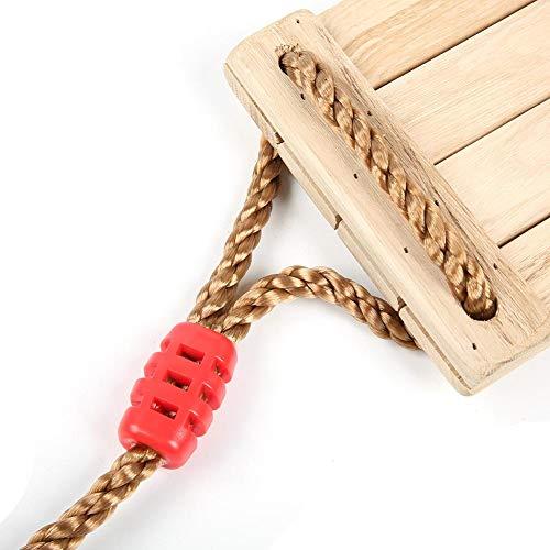 Holzschaukel Hängende Sitz Verstellbar Birkenholz Schaukeln für Erwachsene Kinder Garten, Hof, Innenbereich