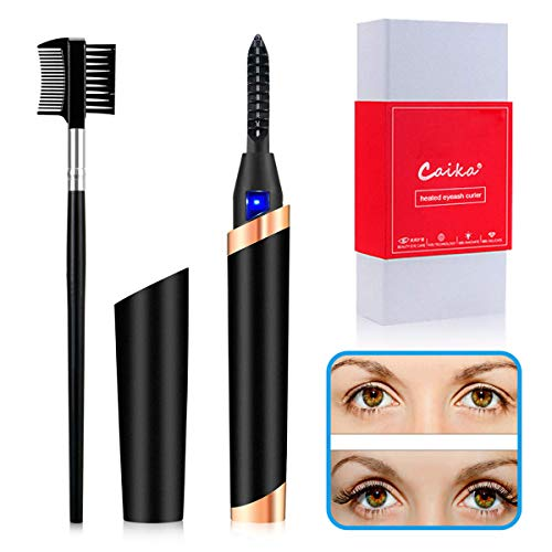 Heated Eyelash Curler, USB Rechargeable Electric Eyelash Curler for Quick Natural Curling,Long Lasting Eyelashes Curl Tool Valentine's Gifts for Girls