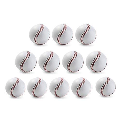 SAMZO 12 pelotas de béisbol duras para entrenamiento de béisbol de tamaño estándar hecho a mano