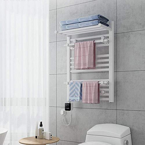 Nuokix Moderna de 11 bar montado en la pared Calentador de toallas con el estante superior en Chrome eficiente de la energía 250W Enchufe de calefacción de toallas for la toalla de baño de acero del c