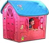 thorberg Spielhaus Maxi Kinderspielhaus extra groß 120x113x111cm (Made in EU) Kinderhaus rosa