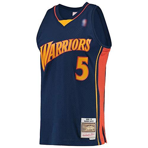 Ropa de jersey de baloncesto personalizada Baron Golden State NO.5 Warriors Davis 2006-07 Hardwood Classics Player Jersey transpirable ropa deportiva para hombres - azul marino