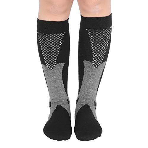 Calcetines Antideslizantes Calcetines de compresión, Calcetines de compresión para Hombres, Calcetines de compresión para(Black, L/XL)