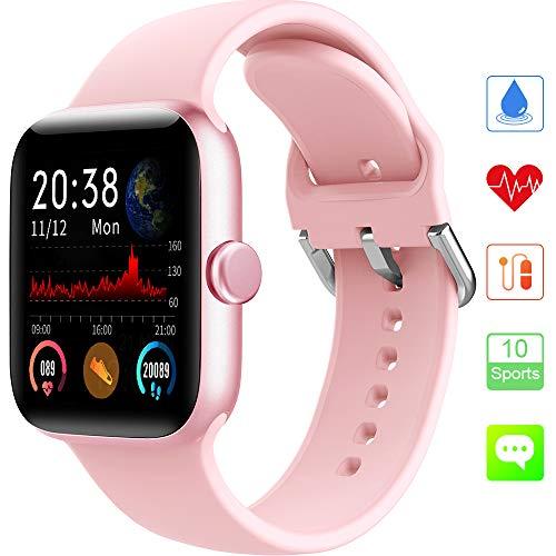 KUNGIX Smartwatch, Orologio Fitness Tracker collegato con GPS, IP68 Activity Tracker Impermeabile con Cardiofrequenzimetro, Monitor per la Pressione del Sangue, del Sonno, per Uomo Donna