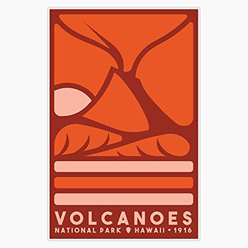 "STG Trading Volcanoes National Park Vinyl Bumper Sticker Decal Waterproof 5"""