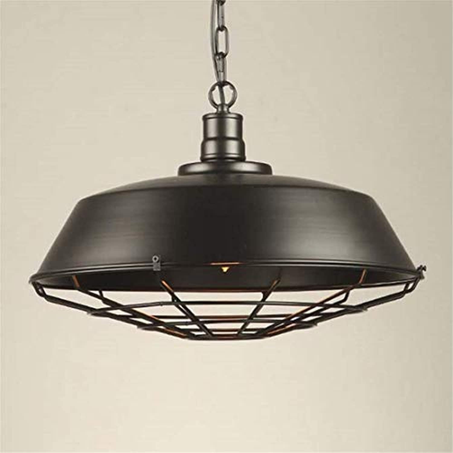 Lichtpendant Light Industrial Vintage Style With Grids 1-Light Adjustable Hanging Lamp Ceiling Fixture